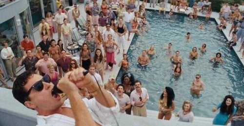 The Wolf of Wall Street pool party.