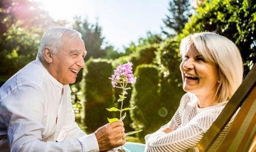 A senior happy couple.