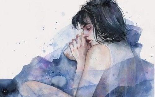 Illustration of a woman sleeping.