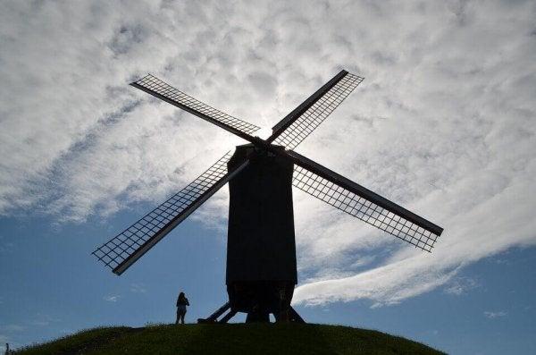 Don Quixote and wind mill