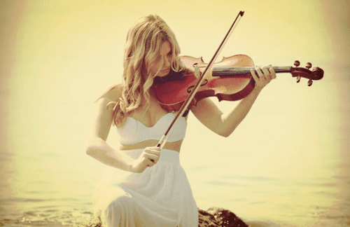 Violin player.