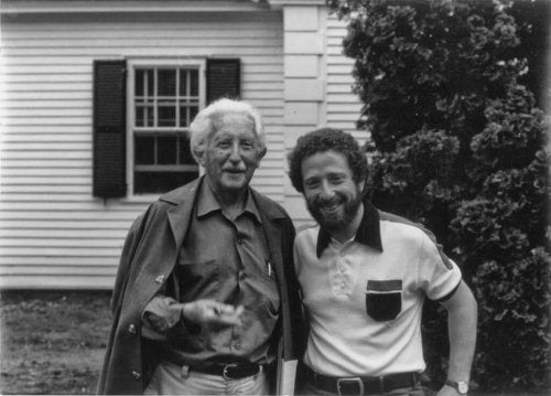 Erik Erikson with a friend.