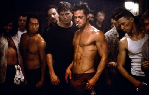 Brad Pitt in Fight Club.