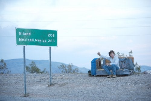 Christopher from Into The Wild asking for a ride.