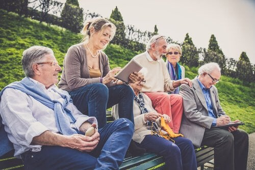 Joining groups can help healthy aging.