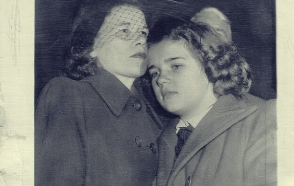 Sally with her mother.