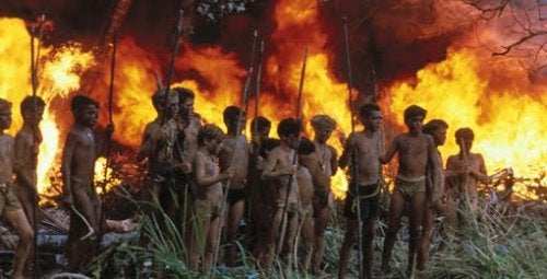 The Lord of the Flies begins as a utopia but soon descends into chaos.