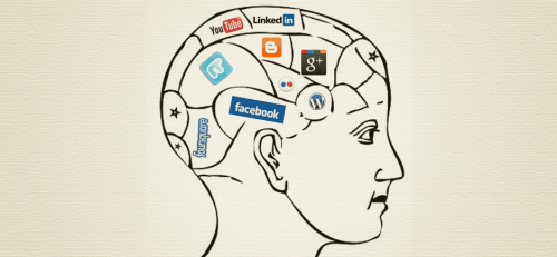 A brain with social networks.