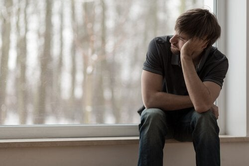 Boy thinking about how to help partner with depression.