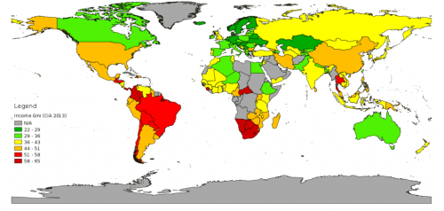 Global inequality index.