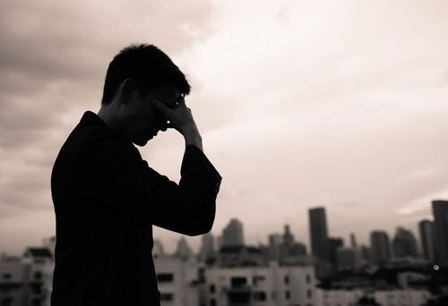 A sad man.