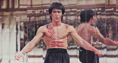 One of Bruce Lee's mental exercises.