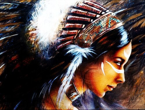 A Native American warrior woman.