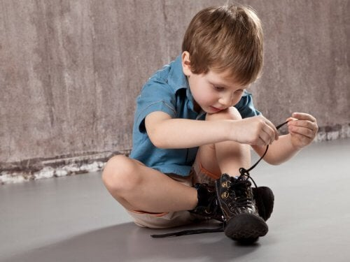 Hyperactive children can have a hard time tying shoelaces.