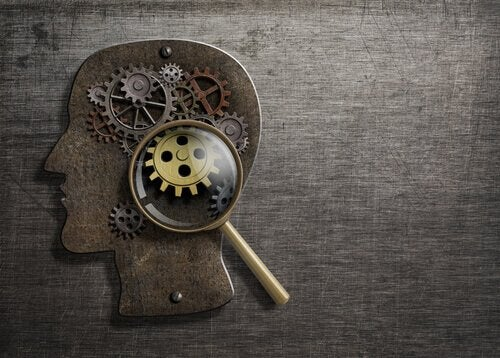 Cogs and inner workings of the mind representing behavioral science.