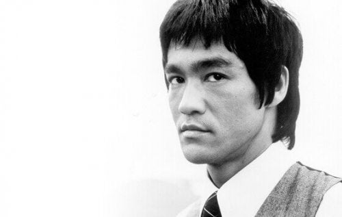 Portrait of Bruce Lee.
