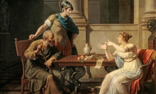 Socrates and Xanthippe.