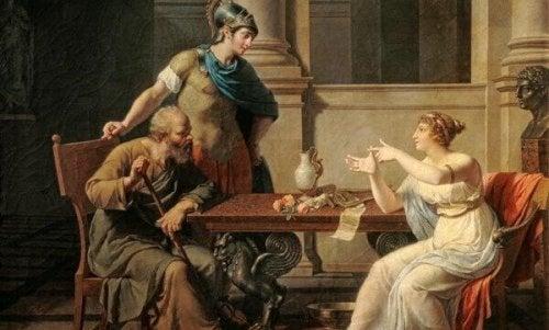 Sokrat i Xanthippe.