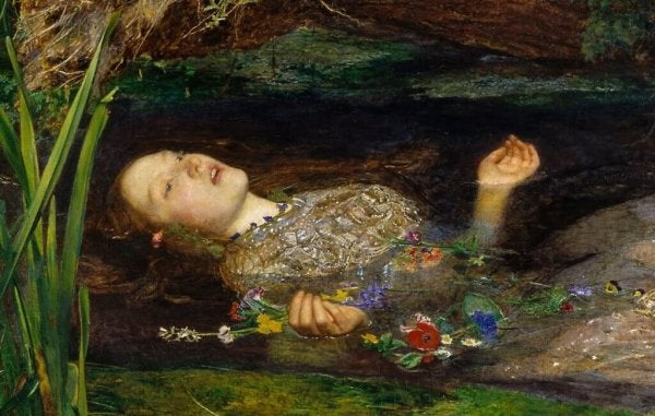 This art represents Ophelia from Hamlet who is similar to Ofelia from Pan's Labyrinth.