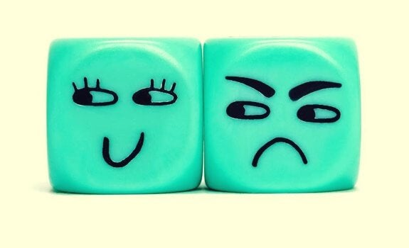 Blue angry cubes.