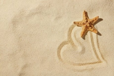 Drawing in the sand is one of our art therapy exercises.