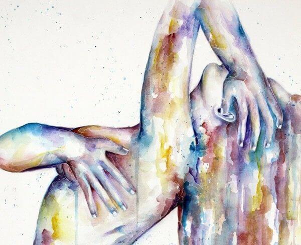 maleri af kvinde