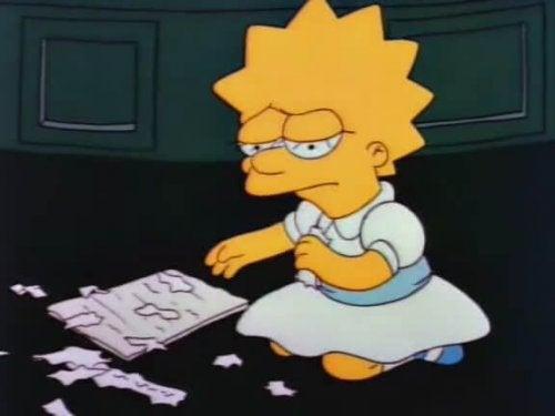 Sad Lisa Simpson.