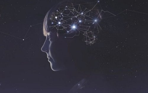 Girl with constellations in her brain.