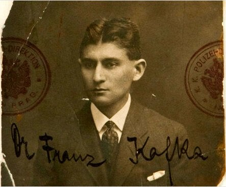 A photo of Franz Kafka.