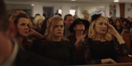 Sharp Objects characters at a funeral.
