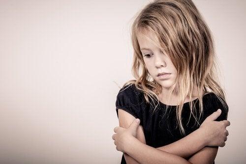 A grieving girl.