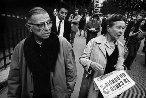 Jean-Paul Sartre and Simone de Beauvoir.