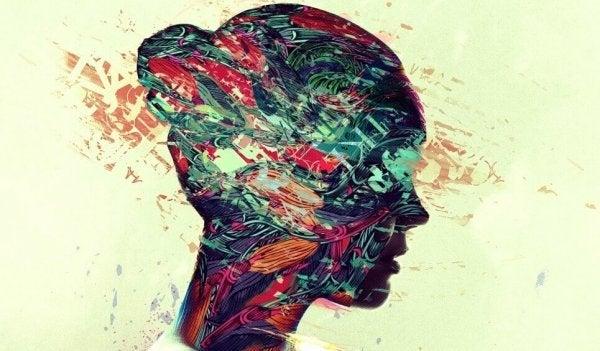 A woman's head profile.