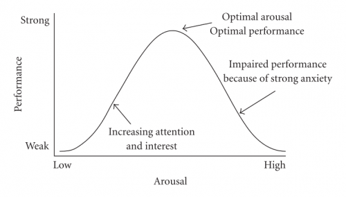 The inverted-U model of the Yerkes-Dodson law.