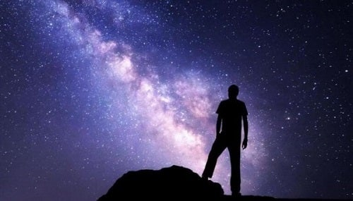 A man observing the universe.