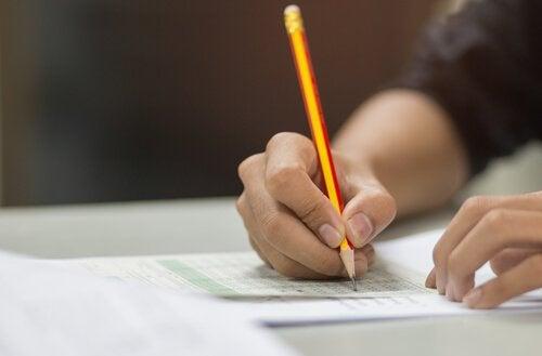 A standardized test.