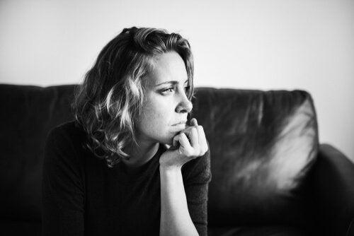 Thinking woman.