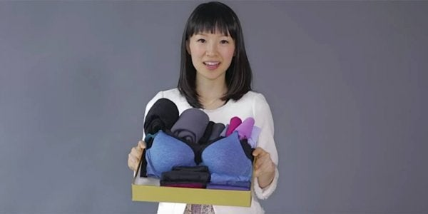 Marie Kondo representing the discipline in Japan.