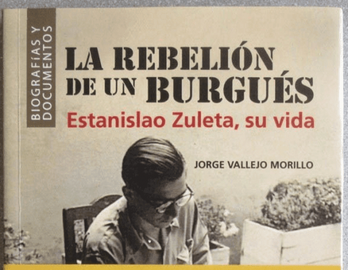 Book cover with Estanislao Zuleta on it.