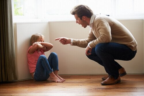 Yelling to your child is not positive when it comes to raising children.
