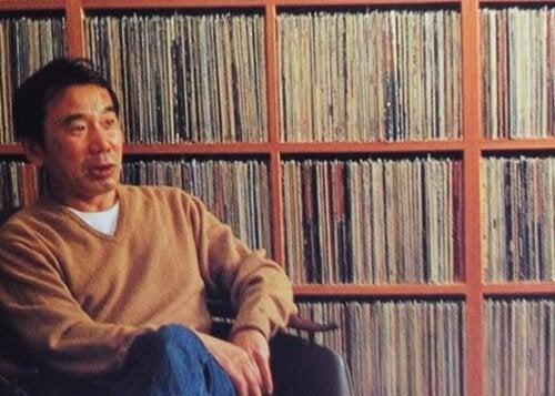 Murakami with vinyls.