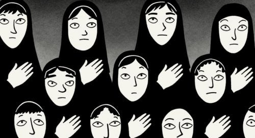 A scene from Persepolis.