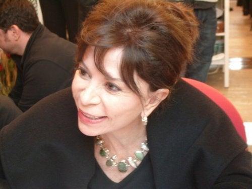 Isabel Allende smiling.