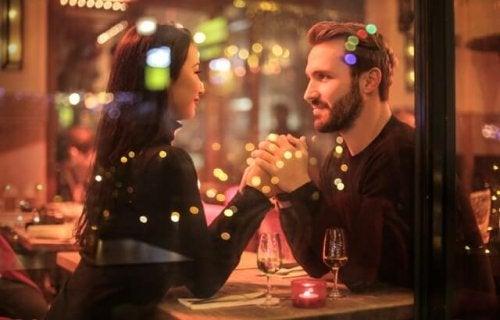 A couple having a romantic date.