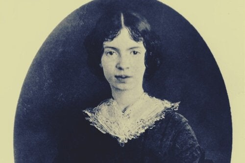 A portrait of a young Emily Dickinson.