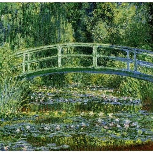 Japanese bridge by Monet.