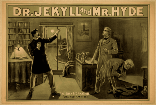 Promo poster for Strange Case of Dr. Jekyll and Mr. Hyde. A film about the good and evil duality.