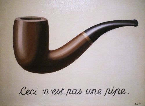 Magritte's painting of the semiotic function.