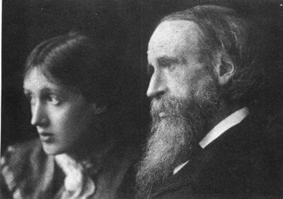 Virginia Woolf and her dad.