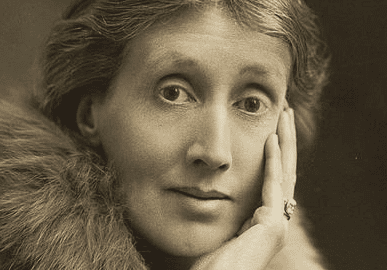 A photo of Virginia Woolf.